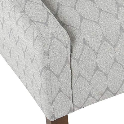 HomePop Modern Swoop Arm Accent Chair, Gray Leaf