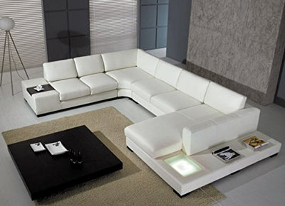 Limari Home Alonso Sectional Sofa, White
