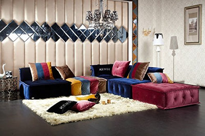 Limari Home Jaffe Sectional Sofa Multicolor
