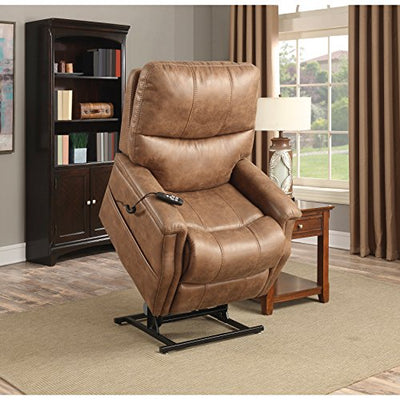 Pulaski DS-A283-016-042 Faux Leather Dual Motor Lift Chair in Badlands Saddle