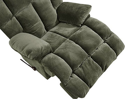 Catnapper Cloud 12 6541-2 Manual Chaise Rocker Recliner Chair - Chocolate Fabric
