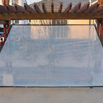 Thicken Tarpaulin Plastic Cloth Enveloped Meat Insulation No Drip Film Windproof Rainproof Cold Protection Window Seal Film Canopy 2x3m (Size : 4x8m) (Size : 5x6m)