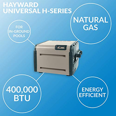 Hayward W3H400FDN Universal H-Series 400,000 BTU Pool and Spa Heater, Natural Gas