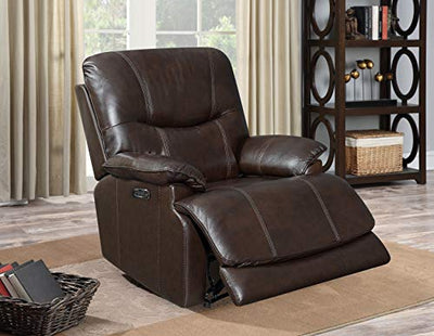 Sunset Trading Baltic Headrest and Lumbar-Espresso Dark Brown Power Reclining Chair, Expresso