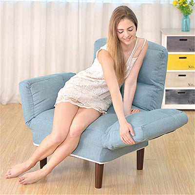 KXA Living Room Chair Cushions, Folding Lazy Sofa Bed Bedroom Living Room Mini Lovely Leisure Balcony Lounge Chair for Relaxing Gaming Lounging