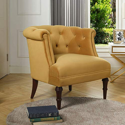 Jennifer Taylor Katherine Tufted Accent Chair, Large, Gold