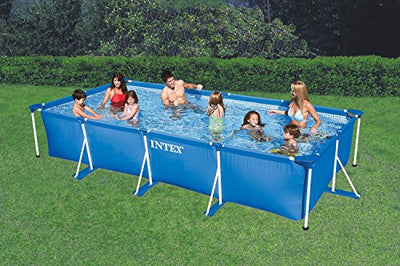 Intex 28273EH 14.75ft x 33In Rectangular Frame Outdoor Easy Assemble Backyard Above Ground Swimming Pool