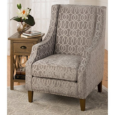 "Jofran Quinn Accent Chair Dove Grey, 28"" W X 35"" D X 41"" H, (Set of 1)"