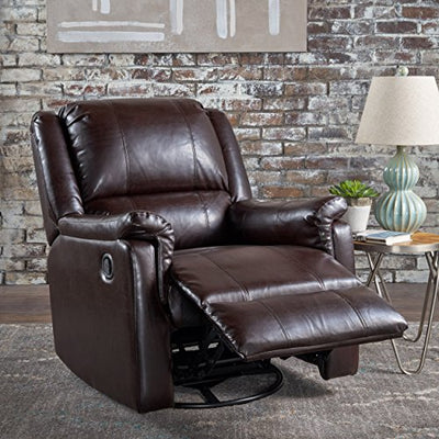 Christopher Knight Home 302059 Jemma Swivel Gliding Recliner Chair, Brown