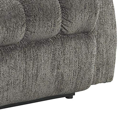 Benjara Upholstered Metal Frame Power Lift Recliner with Tufted Seat and Back, Gray