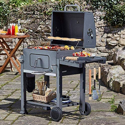 JIACTOP Fire Pits Charcoal Grill Outdoor Barbecues, Camping, Tailgating Charcoal Rack Grill Included Foldable Stainless Steel Barbecue Tools Barbecue Grill Shelf