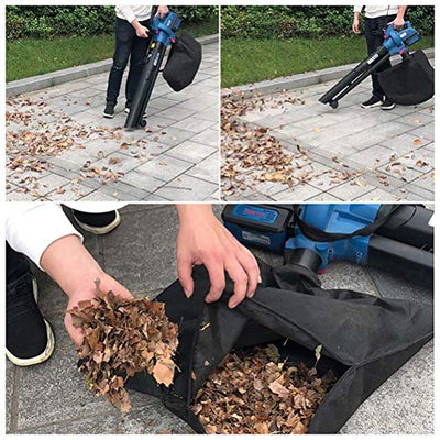 ZWYSL 3-in-1 Garden Blower, wiht 45L Dust Collection Bag 5-Speed Control 40V Lithium Battery Electric Leaf Blower and Vacuum Shredder Pure Copper Motor