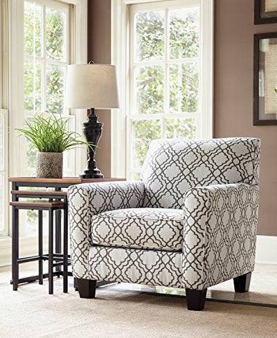 Ashley Furniture Signature Design - Farouh Accent Chair - Vintage Inspired Lattice Design - Pearl