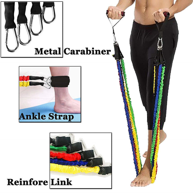 Resistance Bands Set Home Exercise With Door Anchor