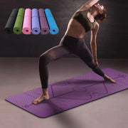 Non Slip Yoga Mat With Position Line