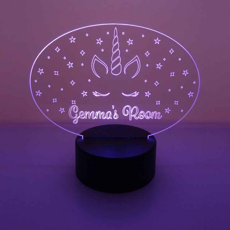 Personalised Unicorn LED Night Light