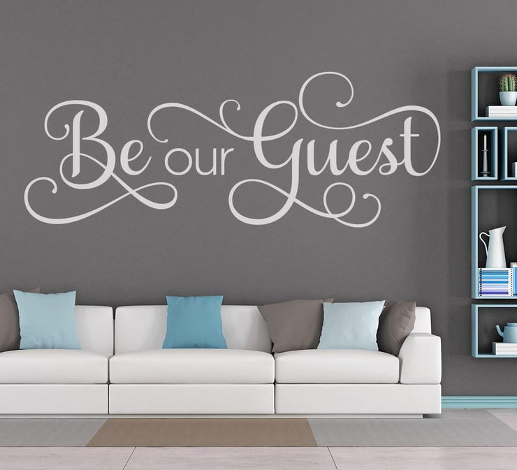 Be Our Guest Wall Art Sticker