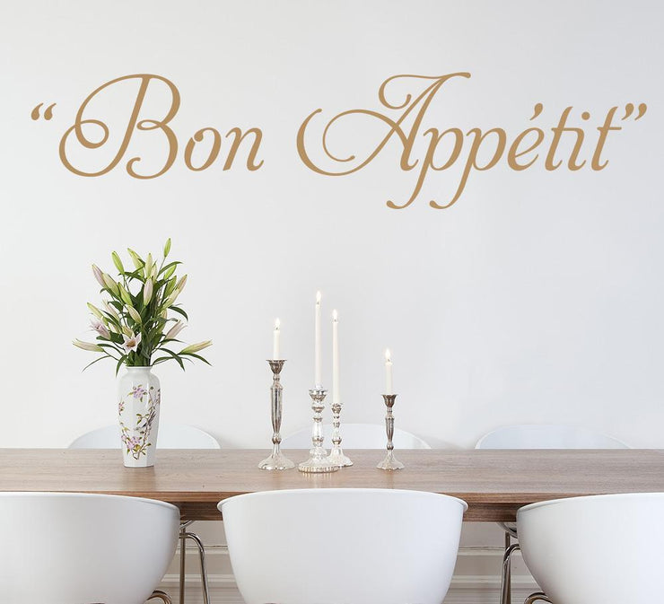 Bon Appetit Kitchen Wall Art Sticker