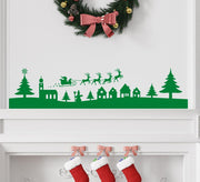Christmas Village Scene Wall Art Sticker