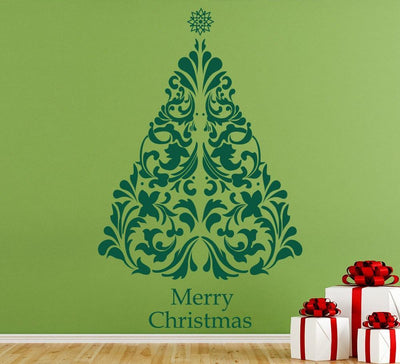 Decorative Christmas Tree Wall Art Sticker Personalised