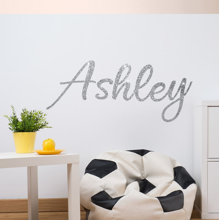 Personalised Glitter Wall Stickers - Any name or word