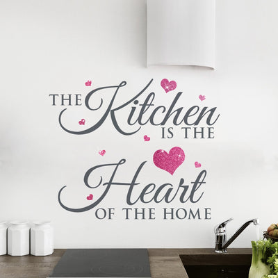 Kitchen is the heart of the home Glitter Wall Sticker
