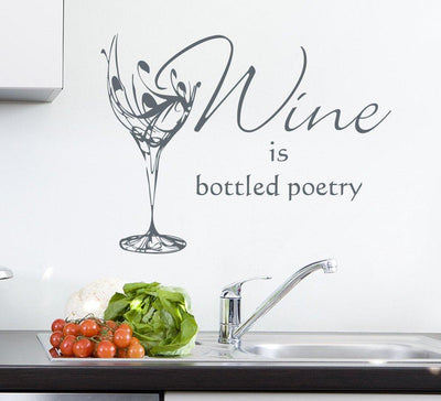 Wine Glass Kitchen Wall Art Sticker Personalised