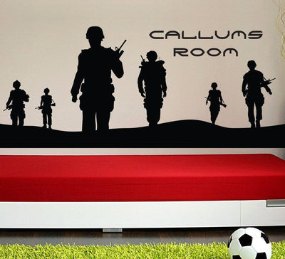 Army Men Wall Sticker Personalised