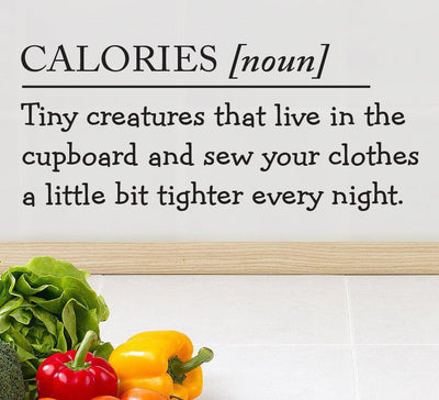 Calories Are Tiny Creatures Kitchen Wall Sticker