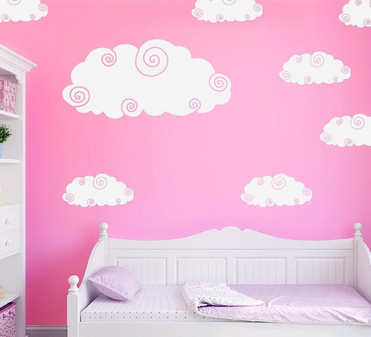 Cloud Wall Stickers Pack of 10 Clouds