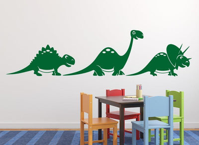 Cute Dinosaur Bundle Wall Art Sticker Personalised