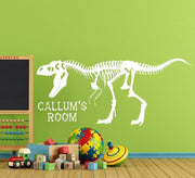 Dinosaur Wall Sticker - Personalised T-Rex Skeleton Decal