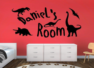 Dinosaurs Wall Sticker Personalised Boys Room