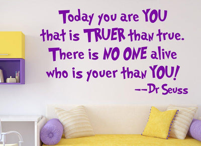 Dr Seuss Wall Sticker Today You Are You