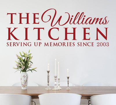 Serving Memories Kitchen Wall Art Sticker