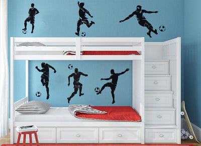 Pack of Football Wall Stickers - Soccer Player Decals
