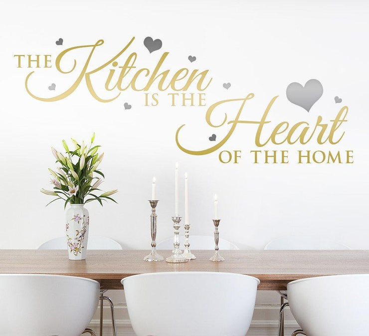 Kitchen is the heart of the home Wall Sticker