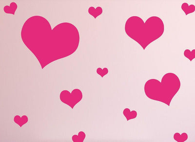 Love Hearts Wall Stickers or Ceiling Stickers 20 Pack