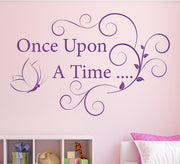 Once upon a time bedroom wall sticker