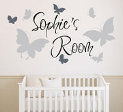 Personalised Wall Sticker with Cute Butterflies