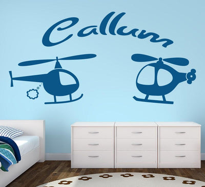 Helicopters Wall Sticker Personalised Decal