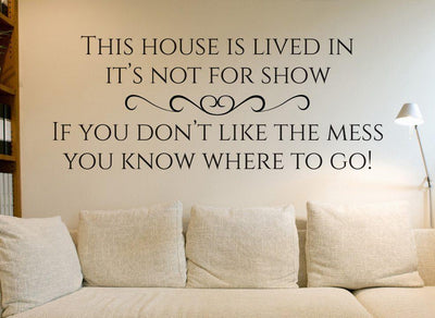 This House Is Lived In Wall Art Sticker