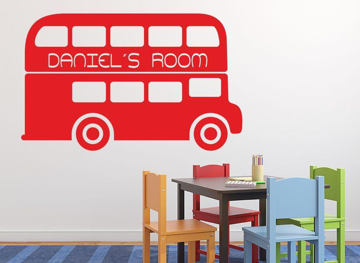 Double Decker Bus Wall Sticker Personalised