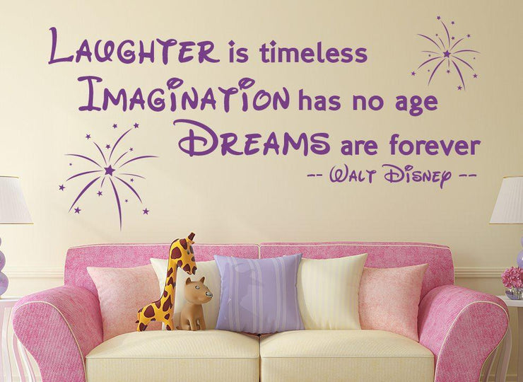 Dreams Are Forever Disney Wall Art Sticker