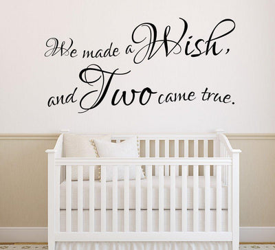 We Made A Wish Twins Wall Sticker