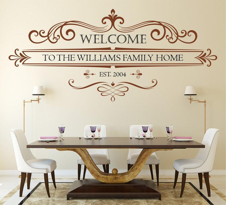 Family Welcome Est Wall Art Sticker
