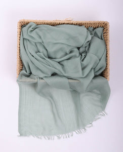 Blue Egyptian Cotton Headscarf by Le Voile