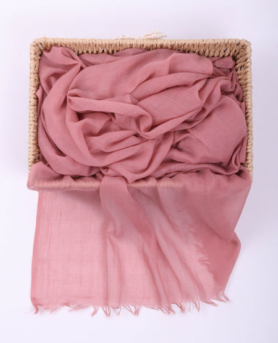 Pink Egyptian Cotton Headscarf by Le Voile