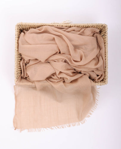 Peach Egyptian Cotton Headscarf By Le Voile