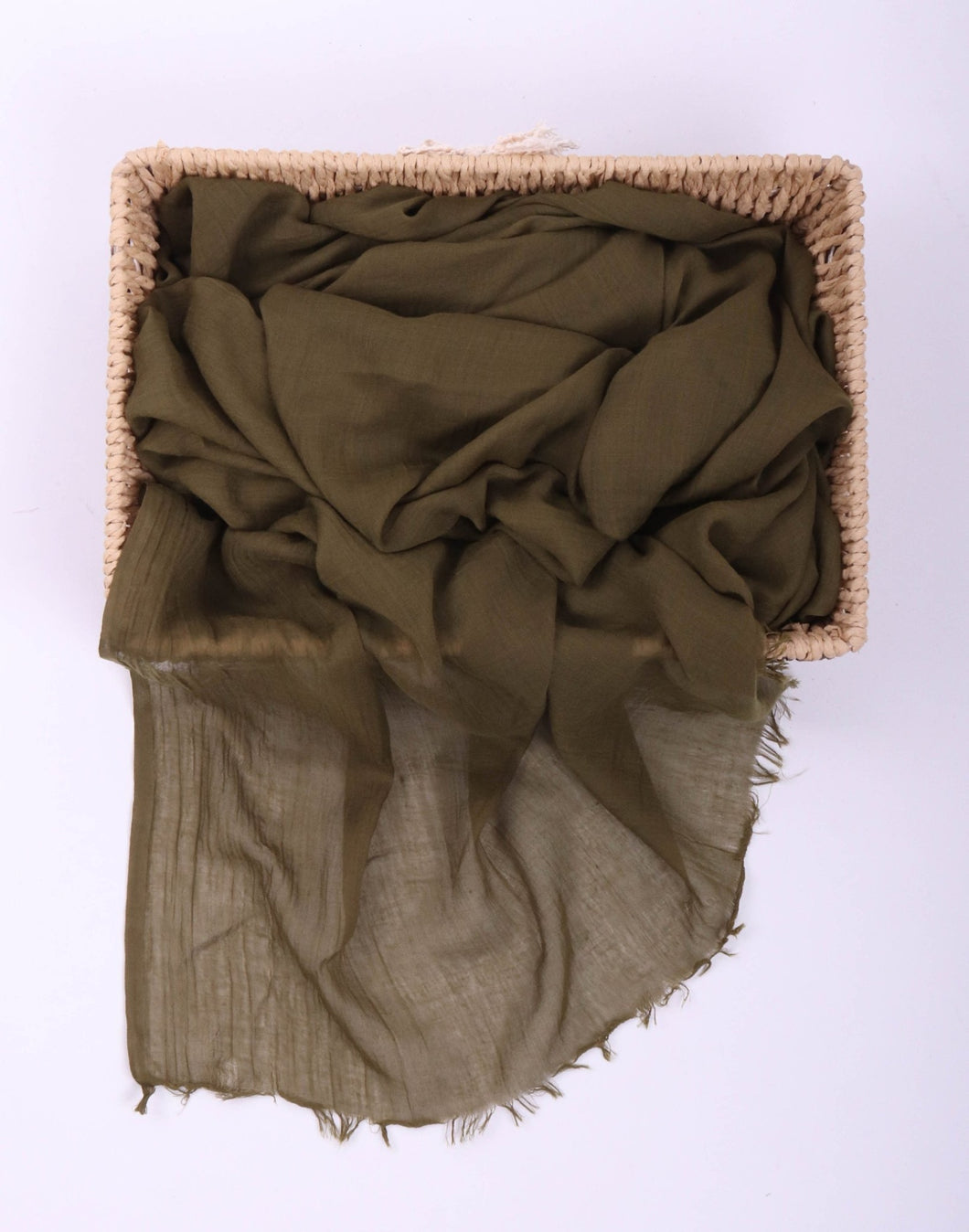 Green Egyptian Cotton Headscarf by Le Voile